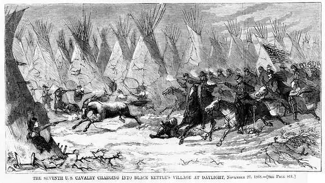 Battle of Washita from Harper's Weekly, December 19, 1868