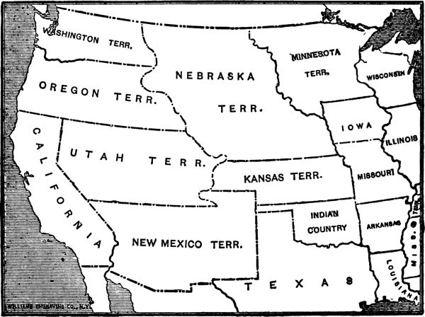 The West In 1854 Great amorphous territories now covered all the plains, and the Rocky Mountains were recognized only as a dividing line.